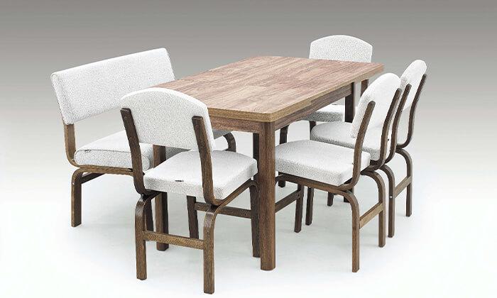 5 פינת אוכל עם 2 כסאות וספסל אור דיזיין Or Design