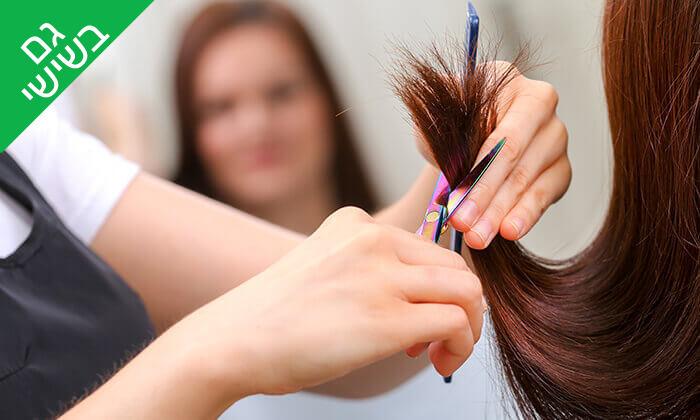 """3 עיצוב שיער - סלון יופי ג'יזל, שוק הכרמל ת""""א"""