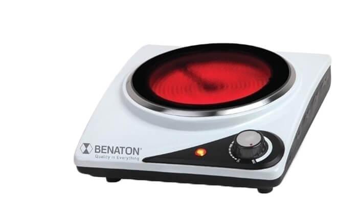 2 כירה קרמיתחשמלית BENATON