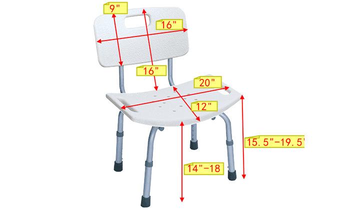 7 כיסא רחצה למניעת החלקה