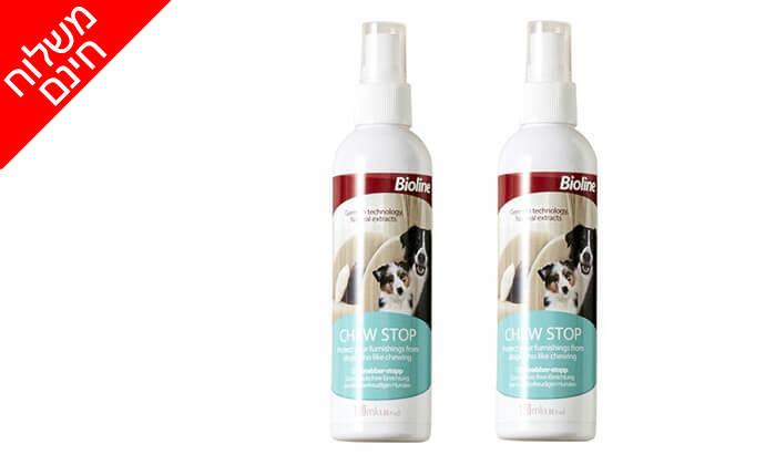 3 2 תרסיסי Bioline לכלבים למניעת לעיסה וליקוק - משלוח חינם