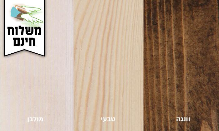 3 אולימפיה: מיטה מעץ מלא עם מזרן - משלוח חינם
