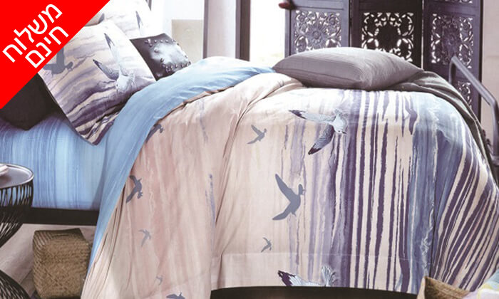 6 4 סטים של מצעי קיץ ומעבר למיטה זוגית - משלוח חינם!