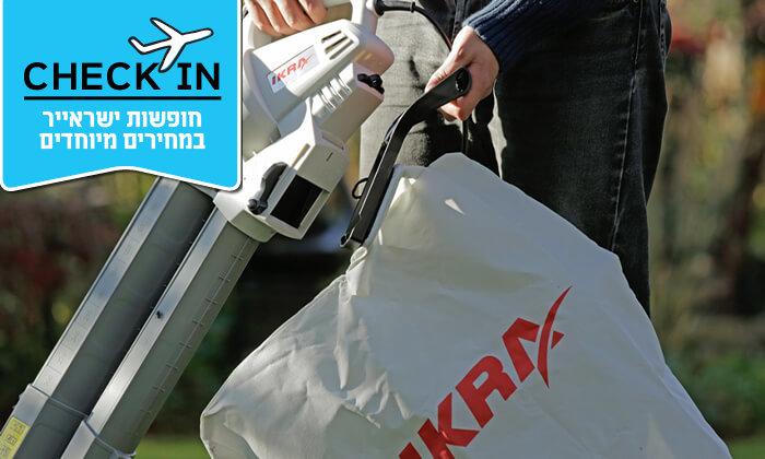 4 שואב ומפוח עלים חשמלי IKRA - משלוח חינם!