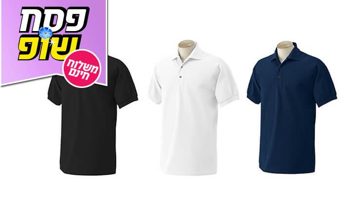 6 3 חולצות פולו מנדפות זיעהT-GOLD - משלוח חינם