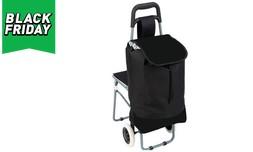 עגלת קניות עם כיסא מתקפל