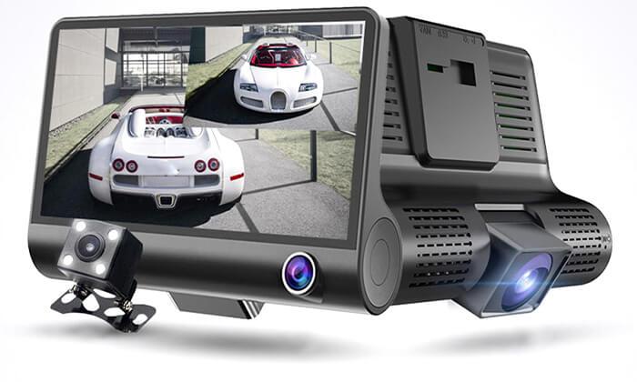 6 מצלמת דרך 3 עדשות לרכב - משלוח חינם !