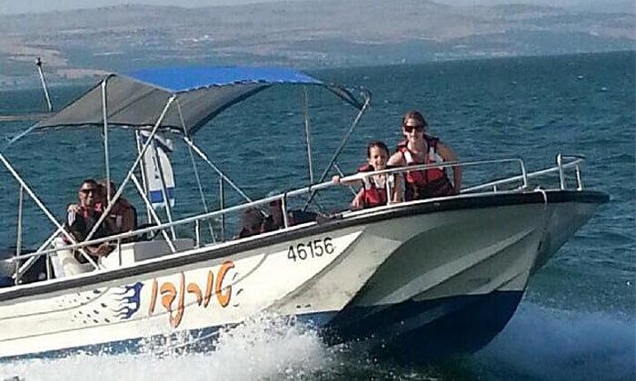 3 שייט בסירת סילון, 'עולם המים' - ספורט ימי על שפת הכנרת