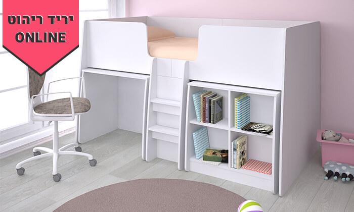 8 רהיטי סוכריה: מיטת ילדים ונוער עם סולם, כוורת ושולחן