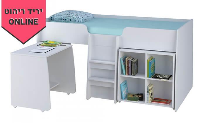 6 רהיטי סוכריה: מיטת ילדים ונוער עם סולם, כוורת ושולחן