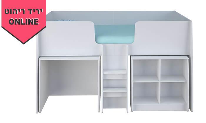 4 רהיטי סוכריה: מיטת ילדים ונוער עם סולם, כוורת ושולחן