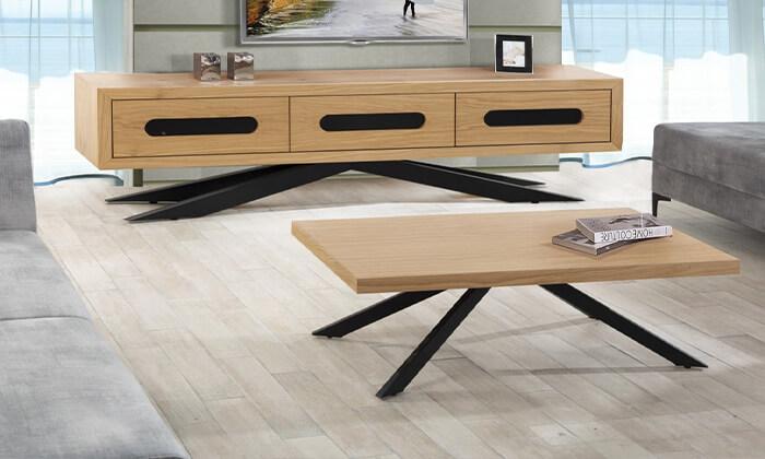 6 סט שולחן ומזנון סלון LEONARDO