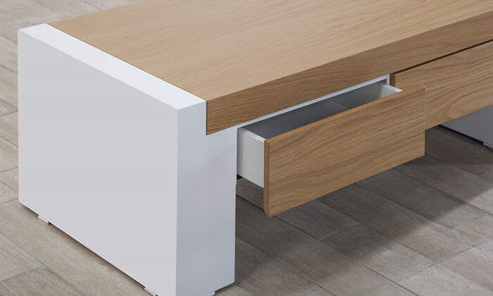 6 שולחן ומזנון עם מגירות לסלון LEONARDO