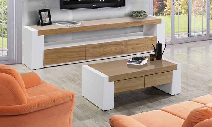7 שולחן ומזנון עם מגירות לסלון LEONARDO