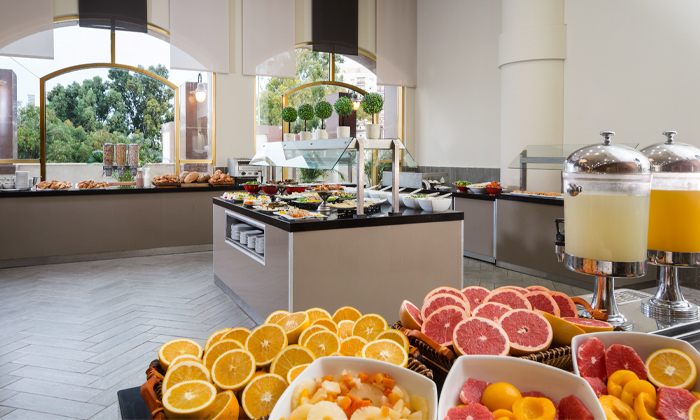 5 ארוחת בוקר בופה במלון לאונרדו נגב, באר שבע