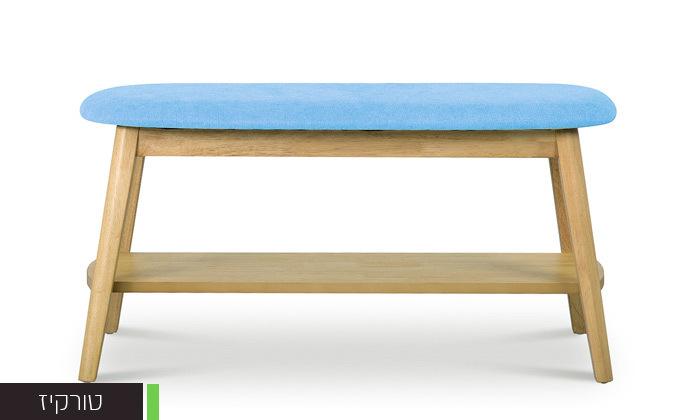 4 שמרת הזורע: ספסל עם מדף לנעליים 'ונציה' - משלוח חינם