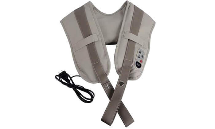 4 חגורת עיסוי חשמלית לצוואר ולכתפיים