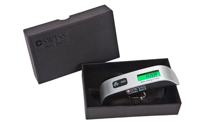8 משקל דיגיטלי למזוודה SWISS