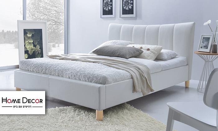 2 מיטה זוגית מרופדת הום דקור HOME DECOR דגם סנדי