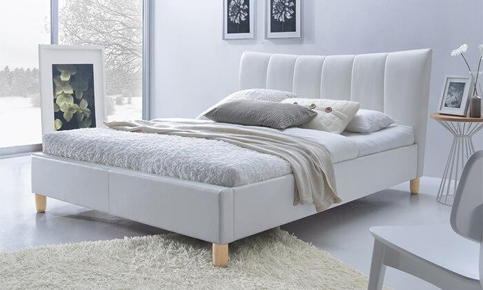 4 מיטה זוגית מרופדת הום דקור HOME DECOR דגם סנדי