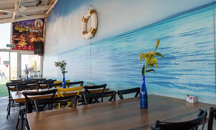 6 ארוחת ספיישל בשרים זוגית בסטלה ביץ' - דג על הים, בת ים