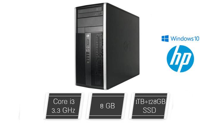 2 מחשב נייח HP/DELL/LENOVO עם מעבד i3