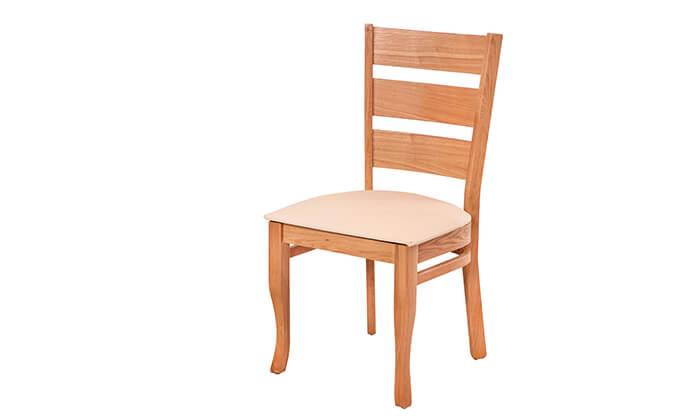 3 פינת אוכל מלבנית עם כיסאות LEONARDO