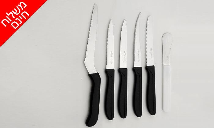3 סולתם SOLTAM: סט 6 סכינים - משלוח חינם