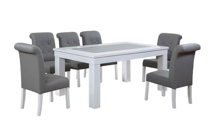 3 פינת אוכל עם 6 או 8 כיסאות LEONARDO, דגם אלסקה