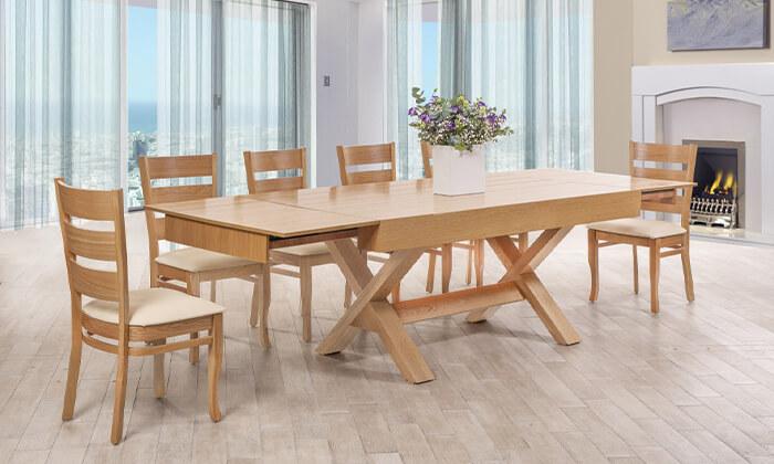10 פינת אוכל עם 6 או 8 כיסאות LEONARDO, דגם קווינס