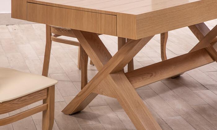 7 פינת אוכל עם 6 או 8 כיסאות LEONARDO, דגם קווינס