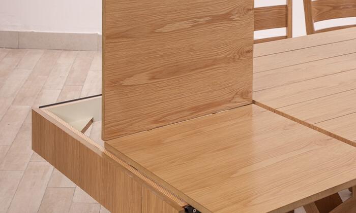 9 פינת אוכל עם 6 או 8 כיסאות LEONARDO, דגם קווינס