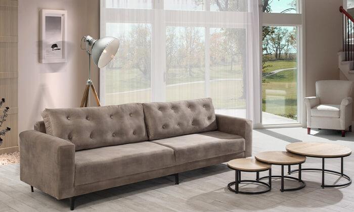 5 ספה תלת-מושבית LEONARDO, דגם מיטל