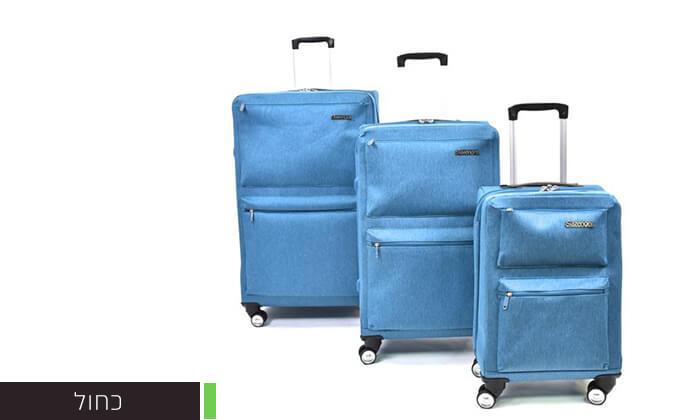 4 סט 3 מזוודות בד קשיחות למחצה Slazenger
