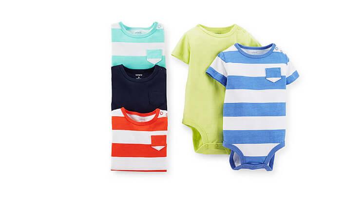 2 מארז חמישיית בגדי גוף לתינוקות Carter's - משלוח חינם