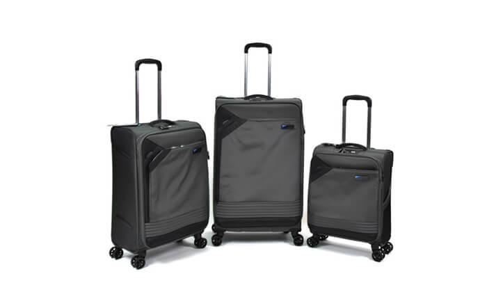 4 סט 3 מזוודות בד קלות משקל Slazenger
