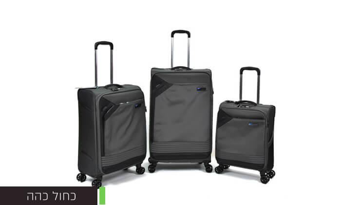 6 סט 3 מזוודות בד קלות משקל Slazenger