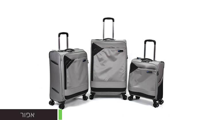 7 סט 3 מזוודות בד קלות משקל Slazenger