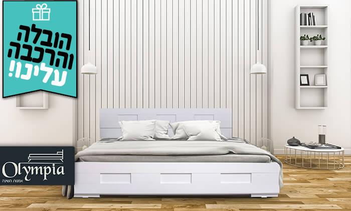 2 אולימפיה: מיטה עם מזרן - הובלה והרכבה חינם
