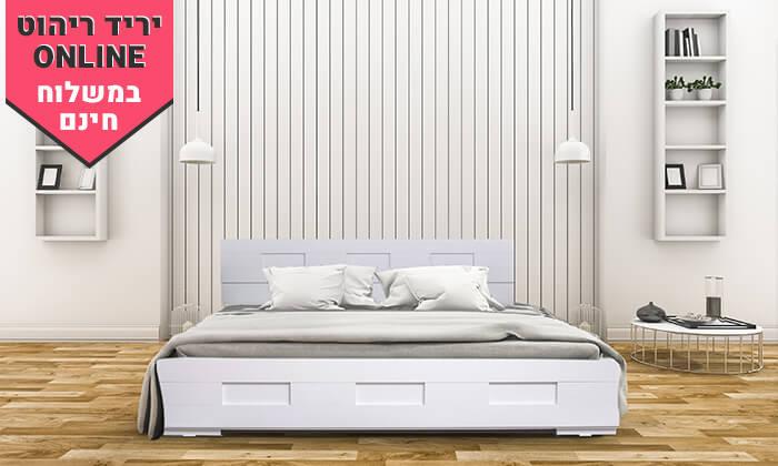 4 אולימפיה: מיטה עם מזרן - הובלה והרכבה חינם