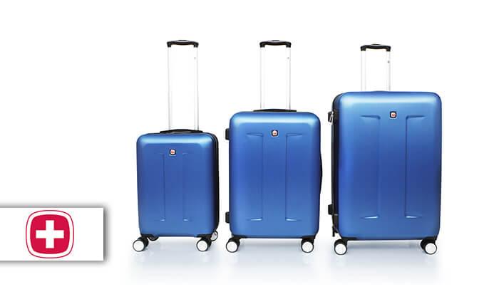 2 סט 3 מזוודות קשיחות סוויס SWISS