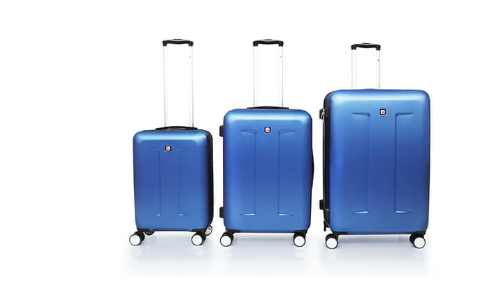 6 מחיר מיוחד לזמן מוגבל: סט 3 מזוודות קשיחות סוויס SWISS