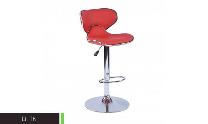 4 כיסא בר בריפוד דמוי עור HOMAX