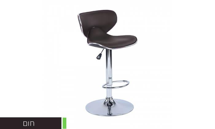 6 כיסא בר בריפוד דמוי עור HOMAX