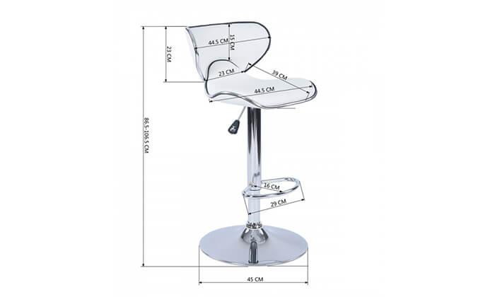 10 כיסא בר בריפוד דמוי עור HOMAX