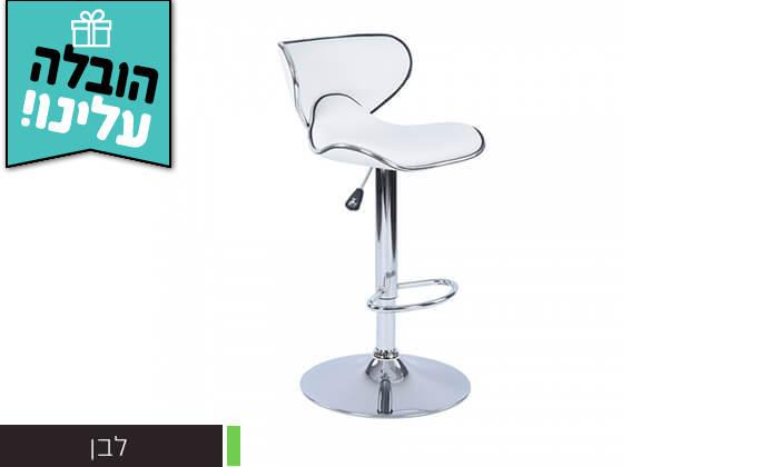 3 כיסא בר בריפוד דמוי עור HOMAX - משלוח חינם