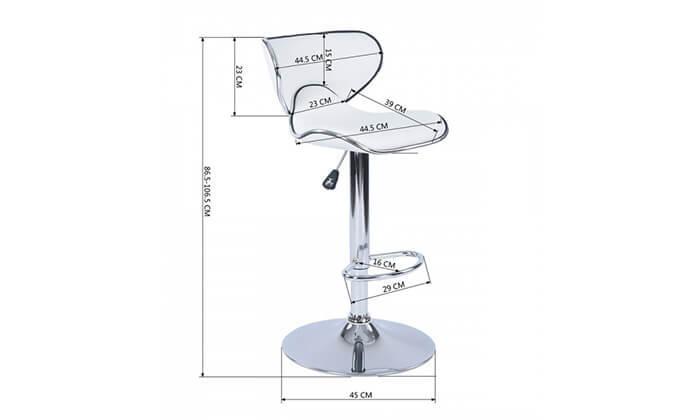 6 כיסא בר בריפוד דמוי עור HOMAX - משלוח חינם