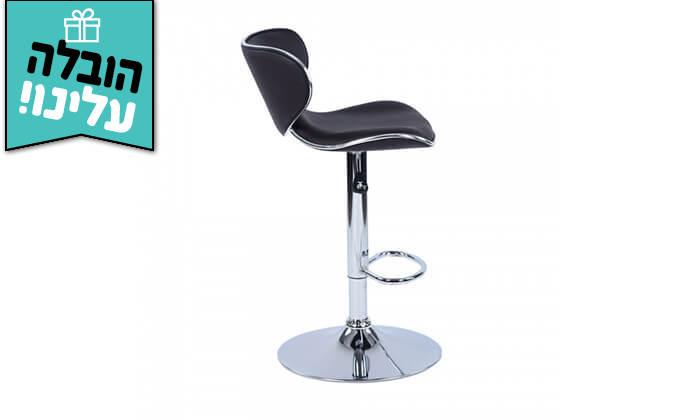 5 כיסא בר בריפוד דמוי עור HOMAX - משלוח חינם