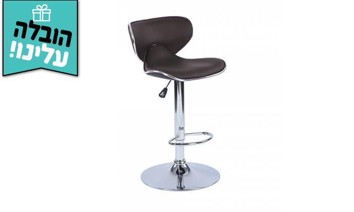 8 כיסא בר בריפוד דמוי עור HOMAX - משלוח חינם
