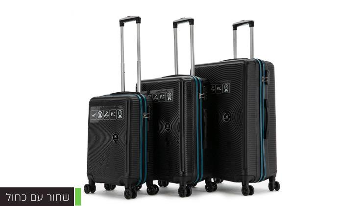 5 סט 3 מזוודות קשיחות SWISS ALPS